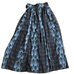 eShakti Wayward Fancies Peacock Feathers Skirt 6
